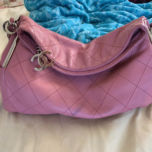 Authentic CHANEL Pink Ultimate Lambskin Hobo Bag